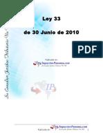 ImpuestosPanama 2010 Ley 033