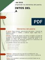 Clase 8° ELEMENTOS DEL POEMA