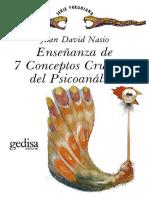 Nasio j d 1988 Ensenanza de 7 Conceptos Cruciales Del Psicoanalisis