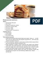 Resep Membuat Pancake Sederha..