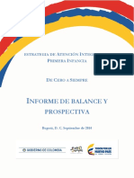 Informe Final Estrategia de Cero a Siempre 2010 2014