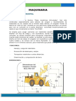 Informe Maquinarias y Equipos