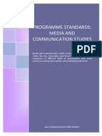 Program Standards_Media and Communication Studies