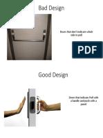 Bad vs Good Design
