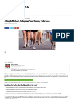 4 Simple Methods to Improve Running Endurance - SmartWatch Run