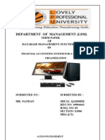 DBMS project (