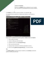 Capítulo I_Primeros Pasos Con Python