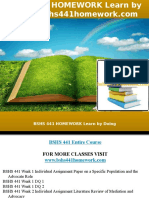 Bshs 441 Homework Learn by Doing