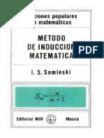 [I. S. Sominskim] Método de Inducción Matemática