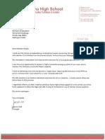 Charter School Letters