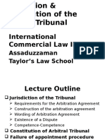 Topic 5 Jurisdiction Constitution of Tribunal
