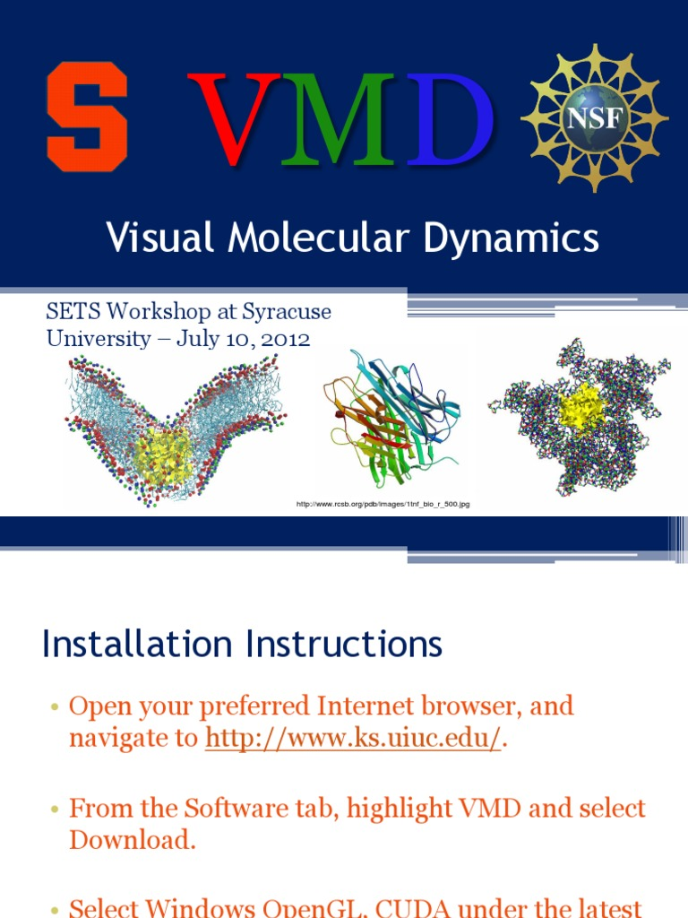 VMD Tutorial | Molecular Dynamics | Molecules