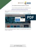 Tutorial Para La Edición de Datos de Usuario en Portal Colombia Aprende