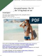 Brzinska Dijeta Pred More Za 15 Dana Skinite Do 15 Kg Koji Se Ne Vraćaju! - Stil-magazin