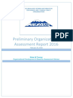 Brian Touary - KWEICO Preliminary Organizational Assessment Report 2016
