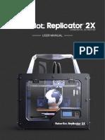 MakerBot Replicator2X UserManual Eng V3