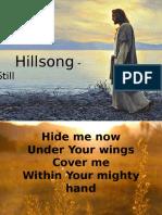 Hillsong - Still Lyrics