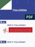 Facts on Thalassemia Disease