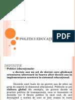 ppt politici educationale