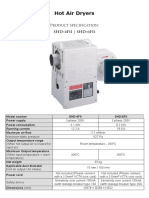 Spec Sheet - Hot Air Dryers SHD-4,6FII