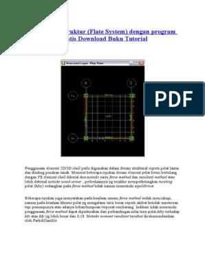 Desain Pelat Struktur Flate System Dengan Program Sap 2000 Gratis Download Buku Tutorial