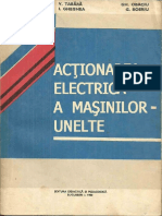 Actionarea Electrica a Masinilor Unelte