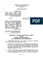 Motion to Admit With Entry of Appearance (Reed)