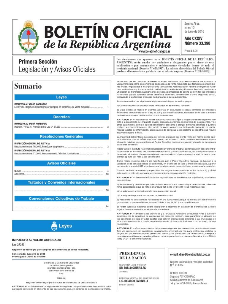 Boletín Oficial de la República Argentina b12e1e3521a66