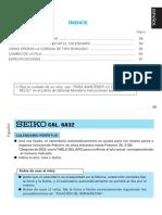 Instrucciones Calibre 6a32 Seiko
