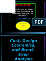 Lesson 2 - Cost, Design Economics and Break-Even Analysis