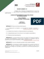 Código de Procedimientos Civiles de Aguascalientes