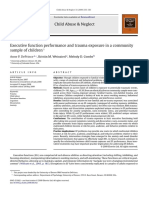 Executive Function Performance and Trauma Exposure in a Community Sample of Children