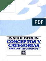 Berlin, Isaiah. Conceptos y Categorías Copia
