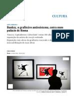 Banksy, o Grafiteiro Antissistema, Entra Num Palácio de Roma _ Cultura _ EL PAÍS Brasil