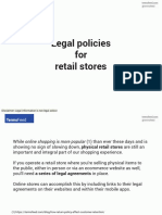 Legal policies for retail stores