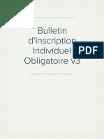 Bulletin d'Inscription Individuel Obligatoire v3
