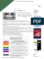 NR 26 – Sinalização de Segurança – Revisão 2011 – Academia Platônica de Ensino