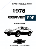 1978 Chevrolet Corvette Specifications