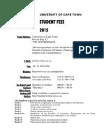 UCT Fees 2015