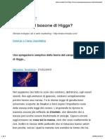 Che cos'è il bosone di Higgs