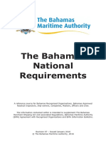 Bahamas National Requirements 2016