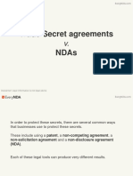 Trade Secrets Agreements v. NDAs