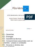 Serviço Pós-Venda Joana Acácio Pedro Claudia