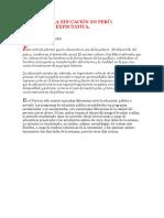 Calidad de La Educación en Perú