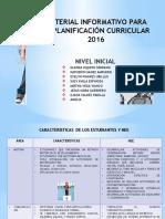 Material Informativo Para La Planificación Curricular 2016