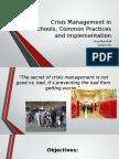 crisis management in schools fbla