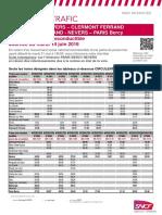 Info Trafic 14 juin SNCF