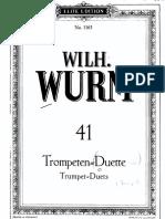 Wilh. Wurm_libro Duos de Trompeta