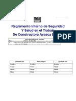 2.- Reglamento Interno de Seguridad CONSTRUCTORA AYASCA - Copia