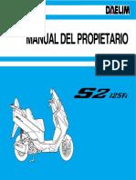Manual Daelim S2 125 Fi
